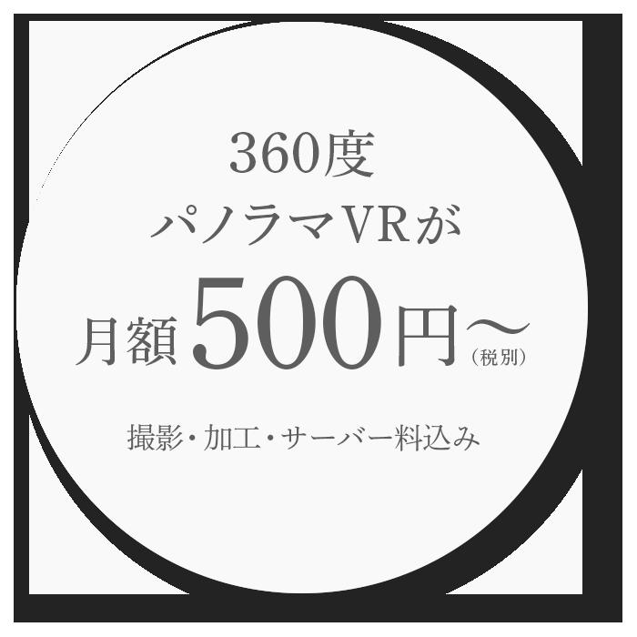 360度パノラマVRツアー クラウドサービス|撮影・加工込 画像持ち込みもOK 月額500円